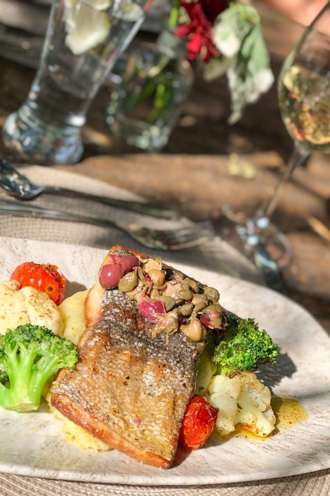 Food – Line Fish at Khaya Ndlovu Manor House Restaurant