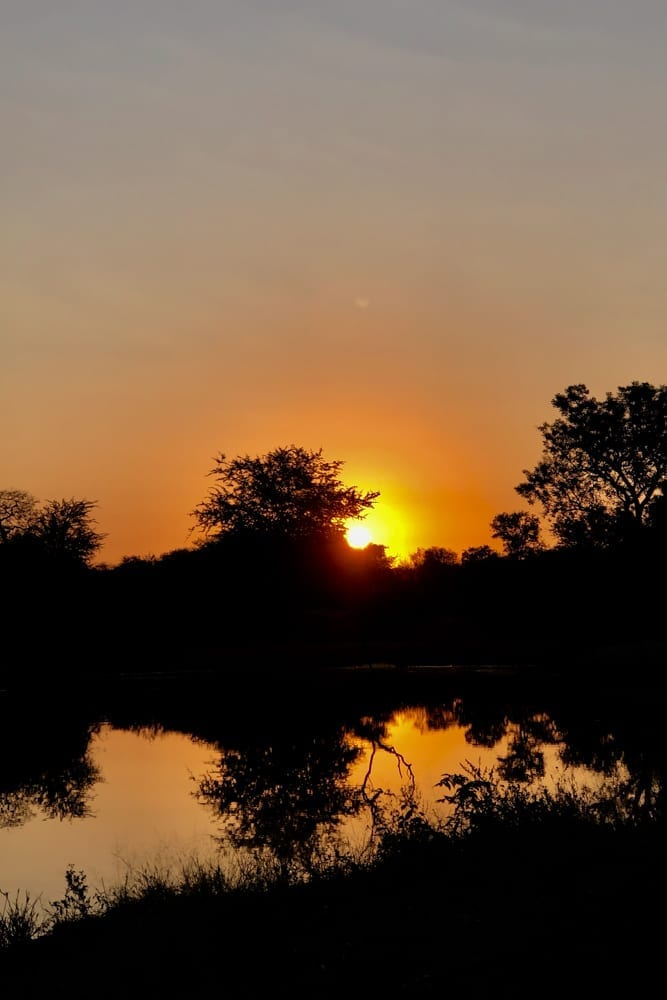 Hoedspruit Wildlife Estate – Sunset at Hammerkop Dam
